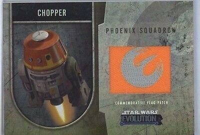 Star Wars Evolution Commemorative Flag Patch Card /170 Chopper