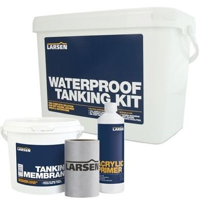 Larsens Tanking kit, Waterproof, Wetrooms, Showers, Bathrooms - Standard