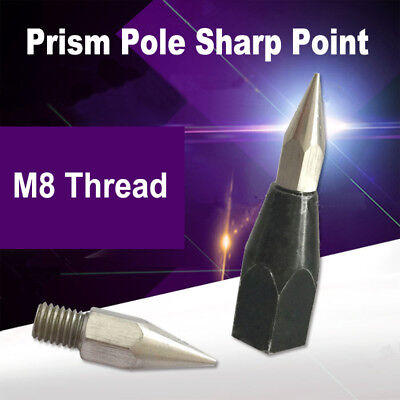 Lightweight Prism Pole Sharp Point Replaceable Tip M8 Thread for Topcon/Leica
