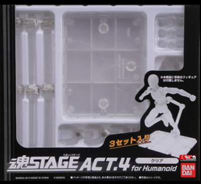 Tamashii Stage Act 4 Humanoid Clear Stand SH Figuarts S.I.C Pack of 3 no box