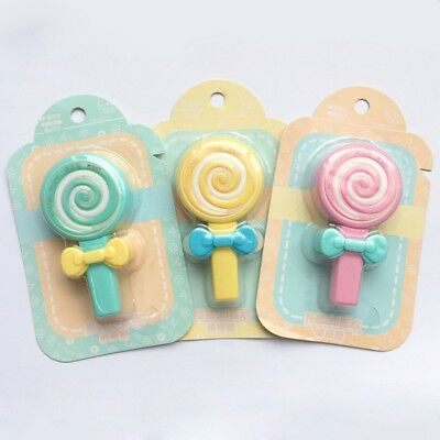 Cute Candy Lollipop Correction Tape Erasers Corrector School Office Supply Gift