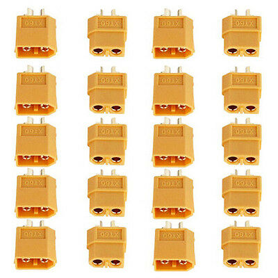 10Pairs XT-60 XT60 Male Female Gold Plated Bullet Connectors RC Lipo Power-Plugs