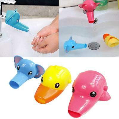 Baby Fun Faucet Extender Animal Fountain Tap Sink Tubs Kids Hand Washing Bathing