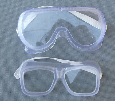 Eye Protection Protective Lab Anti Fog Clear Goggles Glasses Vented Safety  NT
