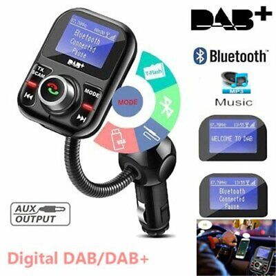 Digital Auto Radio Adapter DAB/DAB+ Empfänger mit Bluetooth FM Transmitter 2USB