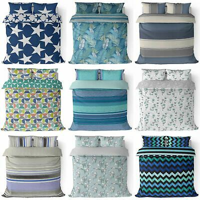 Teal Duvet Cover Navy Blue Quilt Covers Bedding Set Single Double King