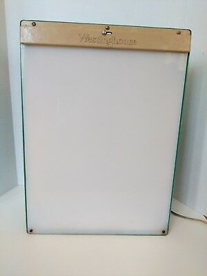 Vtg Westinghouse Industrial Turquoise Light Box Funky Lighting X-Ray Halloween
