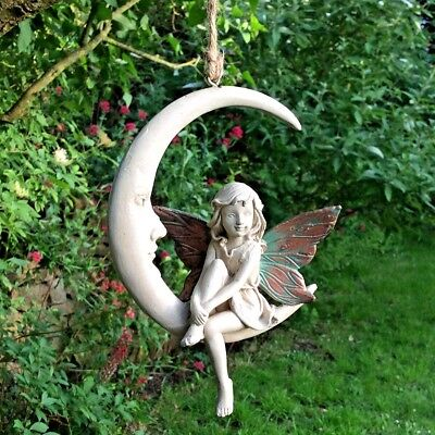 Forest Fairy Dream Catcher Hanging Ball Sculpture Copper Wing White Magic 39763
