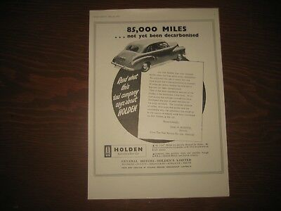RARE Original Vintage May 1951 Advertising FX GMH Holden Car Australian Advert