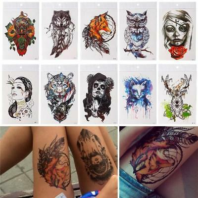 Tattoo Tatouage Temporaire Autocollant Sticker Geometrique Bras Art