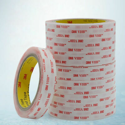 CLEAR 10mm Wide x 1mm Thick ~ 3M Double Sided VHB Acrylic Foam STRONG Tape, 4910