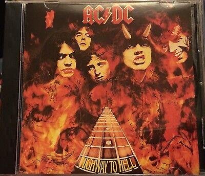 AC/DC - Highway To Hell - CD Album - Flames Cover - 1993 Issue