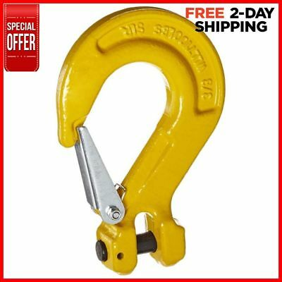 Indusco 47400301 Grade 80 Drop Forged Alloy Steel Clevis Sling Hook with Latch,