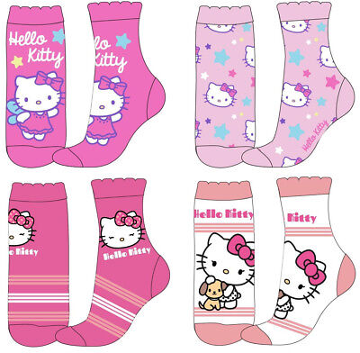 Girls Hello Kitty Socks - Pack of 4