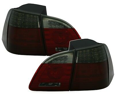 Taillights for BMW 5 Series E61 04-07 TOURING Red Smoke LED BE LDBME1E1 XINO BE