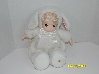 "1998 PRECIOUS MOMENTS CUDDLES Collector Doll #1116 White Lamb Outfit 16"" Cute"