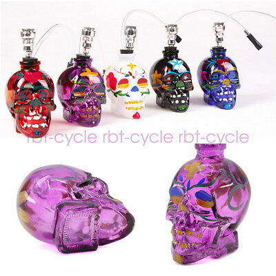 Skull Glass Painting Bong Water Smoking Hookah Hookah Bubbler Pipes Decoration