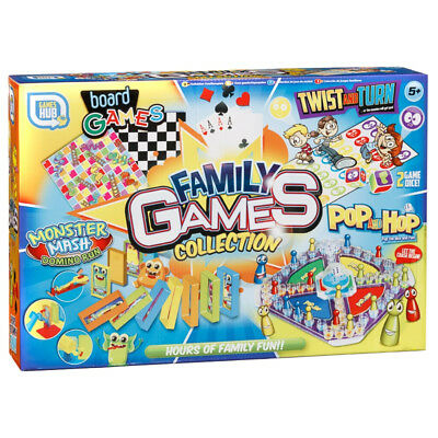 Multi Games Family Board Collection Kids Xmas Cards Snakes Twister Gift Set New