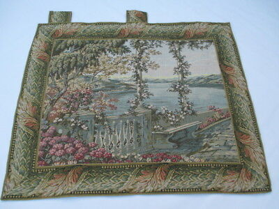 Old French / Belgium Tapestry Wall Hanging - 90 x 110 cm ( 4546 )