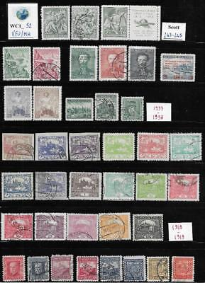 WC1_52. CZECHOSLOVAKIA. Valuable lot of classic stamps w. cplt. sets. Mint/Used