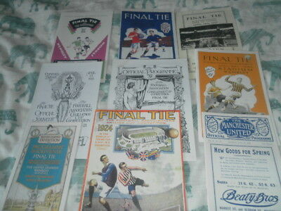 Replica Fa Cup Final Programmes 1882 - 1946 Choose From List