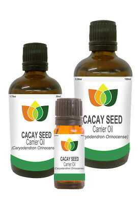 CACAY OIL (Caryodendron Orinocense) Pure Natural Anti Ageing 10ml 50ml 100ml