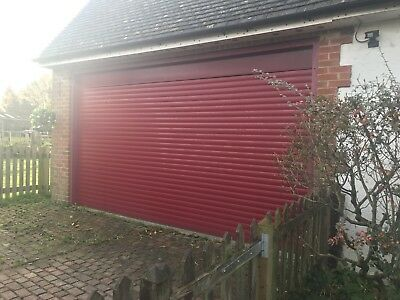 electric roller double garage door