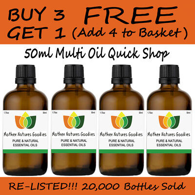 50ml Essential Oil Pure & Natural Aromatherapy - Choose from 60 Oils