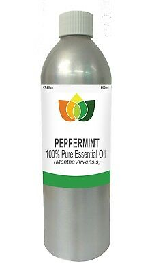 Peppermint Essential Oil Mentha Arvensis 500ml - Aromatherapy