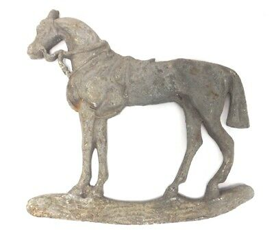 Vintage Lead Horse wall hanging c 1890