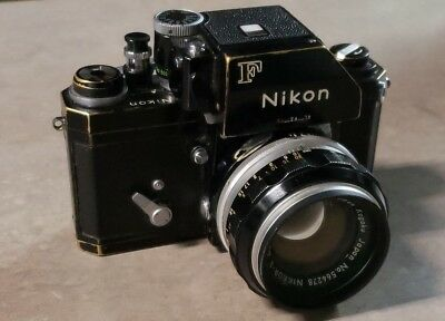 Vintage Nikon F Camera with Nikkor-S Auto 1:1.4 50mm Focus Lens