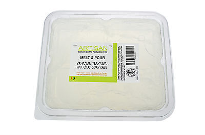 Clear SLS/SLES Free Melt and Pour Soap Base 1kg-12kg Stephensons Cosmetic Making