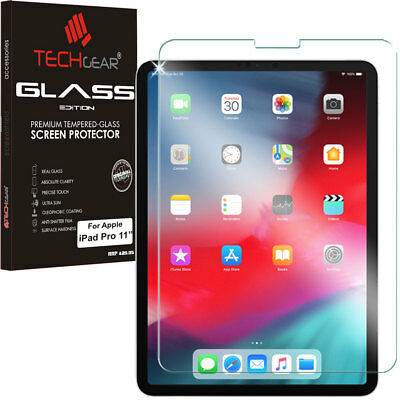 "TECHGEAR TEMPERED GLASS Screen Protector For Apple iPad Pro 11"" with Face ID ok"