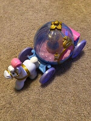 GUC Fisher Price Little People Disney Princess Cinderella's Coach Music Lights