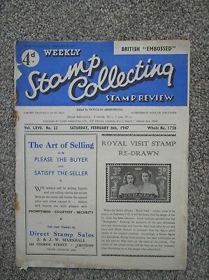 Stamp Collecting x 1 Issue Dated 8 February 1947