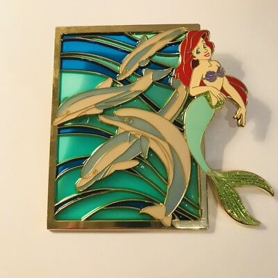 Fantasy Pin Ariel Stained Glass With Dolphin LE 50 Jumbo