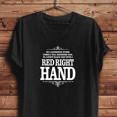 Peaky Blinders shirt Red Right Hand unisex tee Nick Cave lyrics Shelby brothers