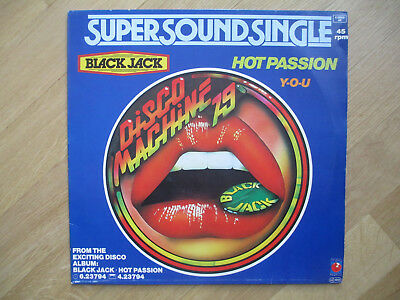 "Vinyl 12"",  Black Jack ‎– Hot Passion, Pinball Records ‎– 6.20019, 1979"