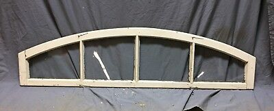 Antique 4 Lite Arched Dome Door Top Transom Window Sash Shabby Vtg Chic 377-18C