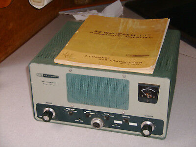 Heathkit HW-18-1 Two Channel SSB transceiver 2.624 MHz crystal plus manual