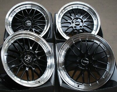 "Alloy Wheels X4 18"" Black Rt For Alfa Romeo 159 Jeep Cherokee Saab 9-3 9-5 5X110"