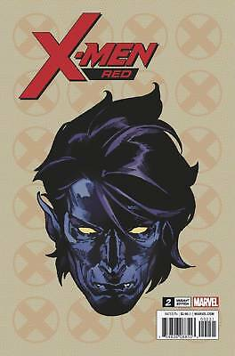 X-Men Red #2 Marvel Comic 2018 Travis Charest 1:10 Headshot Variant Nightcrawler