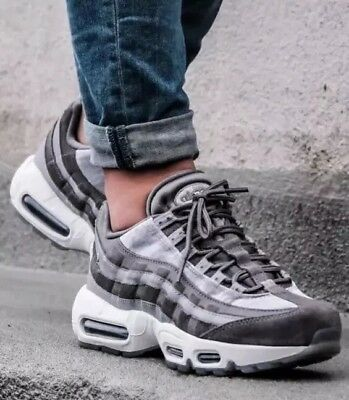 buy popular a8ad4 dd293 New Genuine Nike Air Max 95 Lx Uk 4 Suede Leather Trainers Shoes Aa1103-003