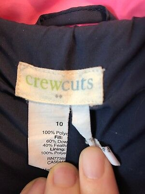 Crewcuts by J.Crew girls puffer coat size 10