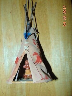 vintage 1970's cherokees indian teepee tent souvenier