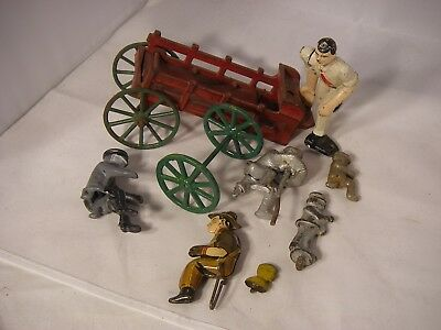 Lot of Vintage Cast Iron, Metal and Tin Toy Parts