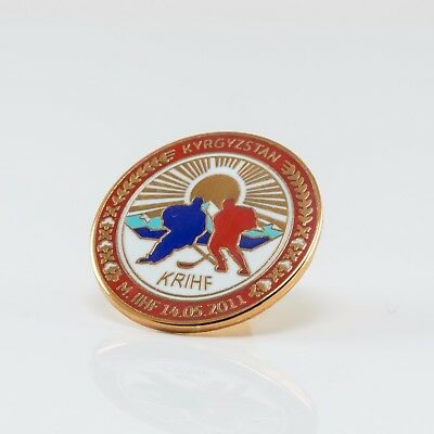 Ice Hockey Federation of Kyrgyzstan pin, badge, lapel, hockey