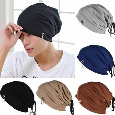 Men Women Winter Ski Beanie Hip Hop Skull Slouchy Oversize Ring Cap Hat Unisex