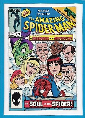 Amazing Spider-Man #274_March 1986_Very Fine+_The Beyonder_Mephisto_Kingpin!