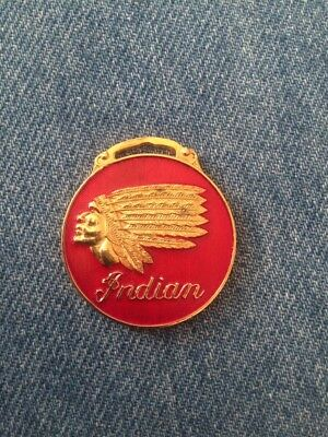 Vintage Indian key/watch fob old USA motorcycle collectible cycle memorabilia